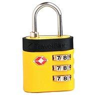 TravelBlue TB037 žlutý - Zámek na zavazadla TSA