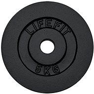 Kotouč Lifefit 5 kg / tyč 30 mm - Závaží na činky