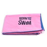 Born To Swim z mikrovlákna růžový - Ručník