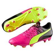 Puma Evo Power 3.3 FG pink glo-safet velikost 8,5 - Kopačky