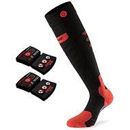 vyhřívané ponožky Lenz set heat sock 5.0 toe cap slim fit + lithium pack rcB 1200 /black-red vel. 35-38 EU - vyhřívané ponožky