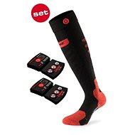 Lenz Set Heat Sock 5.0 Toe Cap + Lithium Pack rcB 1200, Black-Red, size 35-38 EU - Socks