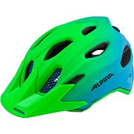 Alpina Carapax Jr. Flash green-blue M - Bike helmet