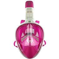 Celoobličejová maska na šnorchlovánírůžová vel. S/M - Potápěčská maska