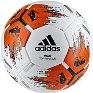 Adidas TEAM TopRepliqu, WHITE/ORANGE/BLACK/IR - Fotbalový míč