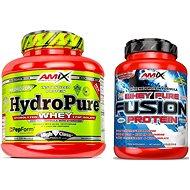 Amix Nutrition HydroPure Whey Protein, 1600g, Double Dutch Chocolate + Amix Nutrition WheyPro Fusion