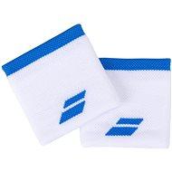 Babolat Jumbo Wristband Logo, White/Blue Aster - Wristband