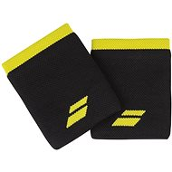 Babolat Jumbo Wristband Logo, Black/Yellow - Wristband