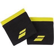 Babolat Wristband Logo, Black/Yellow - Wristband