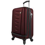 Mia Toro M1014/3-S - vínová - Cestovní kufr s TSA zámkem