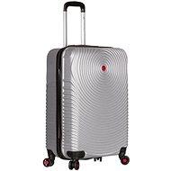 Sirocco T-1157/3-S ABS stříbrná - Cestovní kufr s TSA zámkem