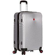 Sirocco T-1157/3-L ABS stříbrná - Cestovní kufr s TSA zámkem