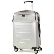 Rock TR-0166/3-M ABS/PES - stříbrná - Cestovní kufr s TSA zámkem
