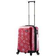 Mia Toro M1089/3-S - červená - Cestovní kufr s TSA zámkem