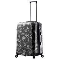 Mia Toro M1089/3-M - černá - Cestovní kufr s TSA zámkem