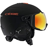 Cébé Element Visor - Matt Black Red vel. 56 - 59 cm - Lyžařská helma
