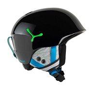 Cébé Suspense - Shiny Black Green vel. 54 - 56 cm - Dětská lyžařská helma