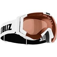 Bliz Carver Jr-Shiny White-Orange - Ski goggles
