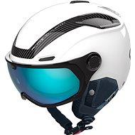 Bollé V-Line Carbon White Matte Photochromic Phantom Blue Lens Cat 1-3, vel. S (52-55 cm) - Lyžařská helma