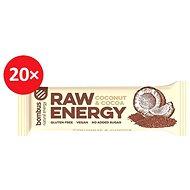 BOMBUS Raw energy-Cocoa+coconut 50g 20ks - Raw tyčinka