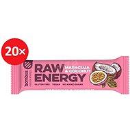 Bombus Raw energy-Maracuja 50g 20ks - Raw tyčinka