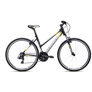 CTM MAXIMA 1.0, Black/Yellow - Women's cross bike