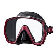 Tusa Freedom HD, černý silikon, červený rámeček - Maska