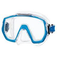 Tusa Freedom Elite, transparentní silikon, modrý rámeček - Maska