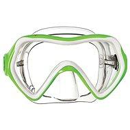 Mares Comet, transparentní silikon, zelený rámeček - Maska