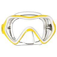 Mares Comet, transparentní silikon, žlutý rámeček - Maska