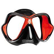 Mares X-Vision Ultra Liquidskin, černý silikon, červený rámeček - Maska