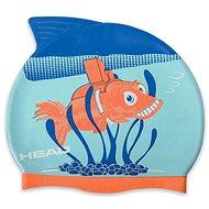 Head Meteor junior, Orange Fish - Swim Cap