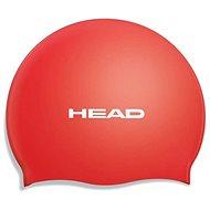 Head Silicone Flat, Red - Swim Cap