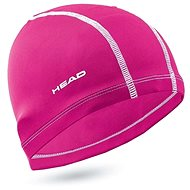 Head Polyester Cap, Pink - Swim Cap