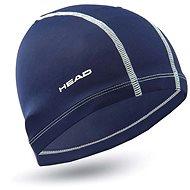 Head Polyester Cap, Navy Blue - Swim Cap