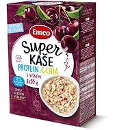 Emco Super kaše Protein & chia s višněmi 3x55g - Kaše