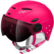 Lyžařská helma Etape Rider Pro Růžová/Bílá Mat, vel. 53 - 55 cm
