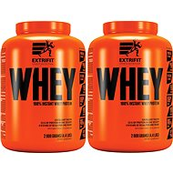 Extrifit 100% Whey Protein 2 kg chocolate + 2 kg salted caramel