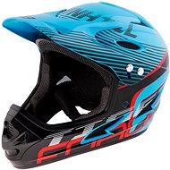 Force Tiger downhill, modro-černo-červ. - Helma na kolo