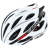 Force BULL, bílo-černá - Helma na kolo