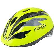 Helma na kolo Force FUN STRIPES dětská, fluo-černo-šedá S, 48 cm - 54 cm