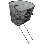 Force Front Basket with Holder and Stays, Black - Bottle cage
