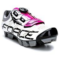 Force MTB Crystal, Bílé/Růžové - Cyklistické tretry