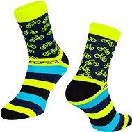 Force CYCLE žlutá 42-46 EU - Ponožky