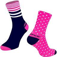 Force SPOT růžová/modrá - Ponožky