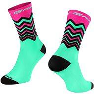 Force WAVE růžová/zelená - Ponožky