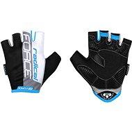Cyklistické rukavice Force RADICAL, černo-bílo-modré XL