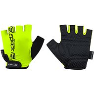 Cyklistické rukavice Force KID, fluo L
