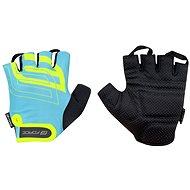 Force SPORT, modrá/fluo - Cyklistické rukavice