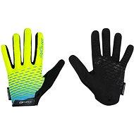 Cyklistické rukavice Force MTB ANGLE, fluo-modré